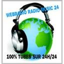 Webradio radio music 24 100% tubes logo