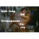 Kim Jong Un Propaganda Party logo