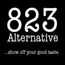 823 Alternative logo